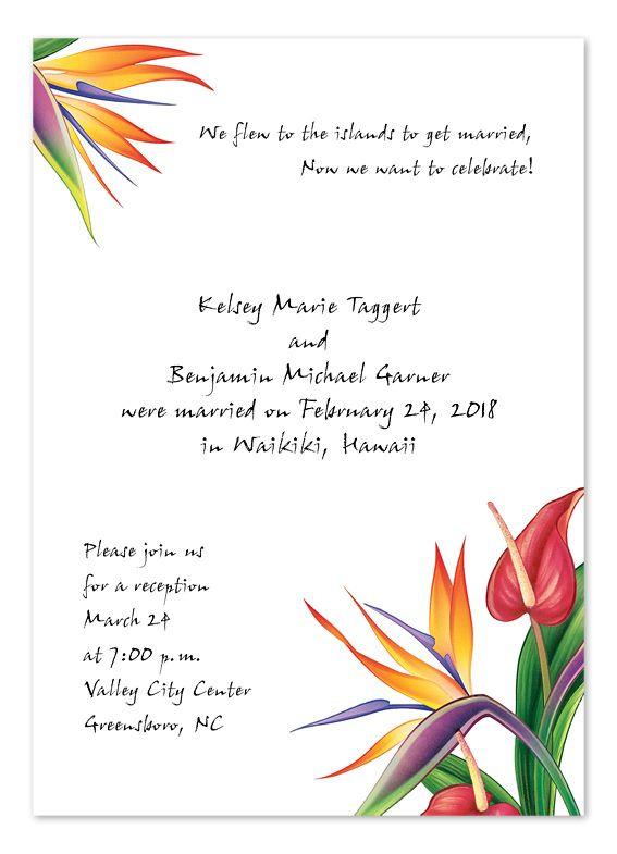 .98  Birds of Paradise - Wedding Invitations by Invitation Consultants. (Item # CC-EE65B8M )