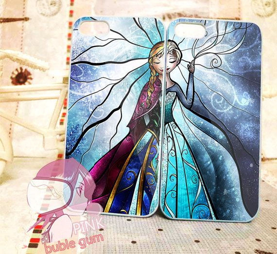 elsa and anna disney frozen stained glass couple for iPhone 4/4s, iPhone 5, Phone 5s, iPhone 5c, Samsung Galaxy s3, Samsung Galaxy s4 Case on Etsy, $30.00
