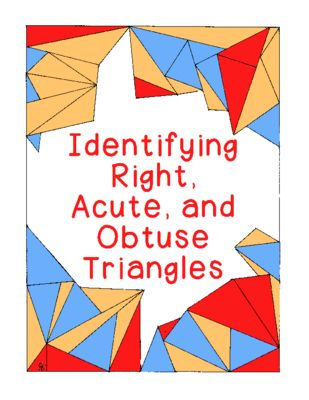 Identifying Triangles Acute Obtuse