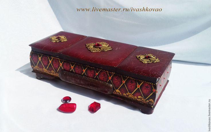 Buy Box Of Blue - burgundy, box, jewelry box, handmade box, box-triptych