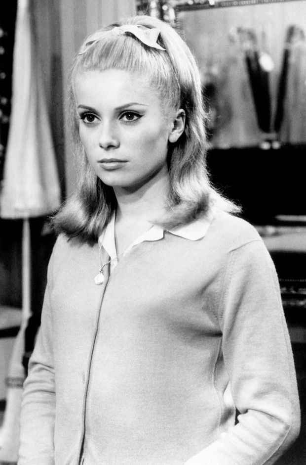 Catherine Deneuve - she's my new hair icon, so simple and chic