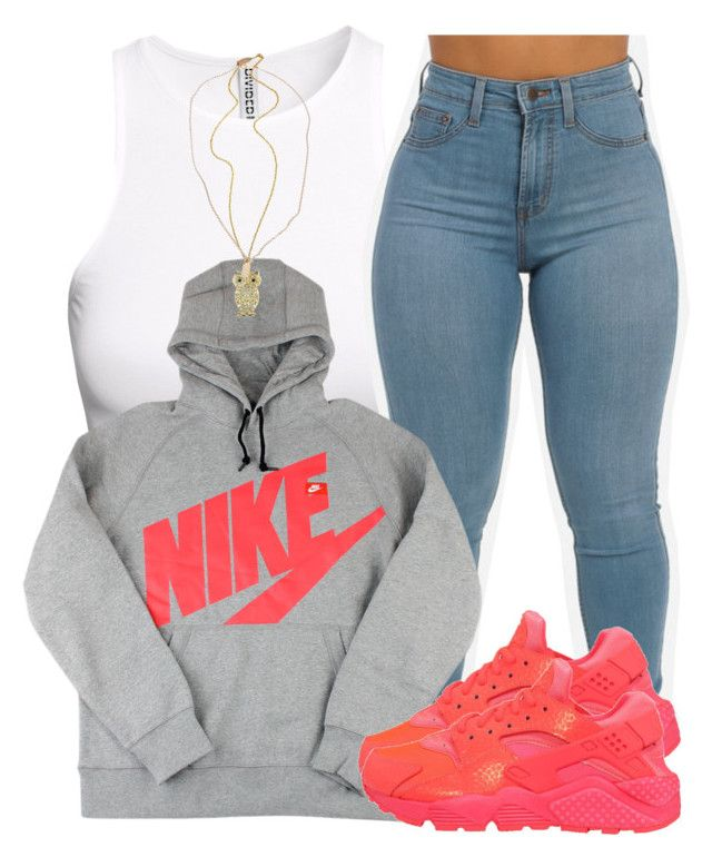 """11/23/15"" by clickk-mee ❤ liked on Polyvore featuring H&M, NIKE, Devon Pavlovits, women's clothing, women, female, woman, misses and juniors"