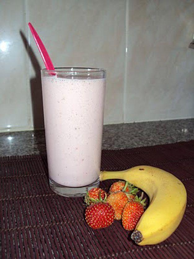 Batido de Morango e Banana
