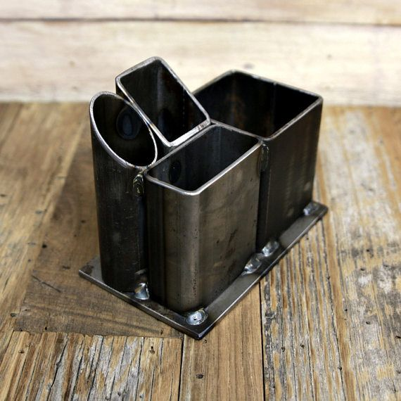 Welded steel desk organizer pen holder storage steel от CVFAB