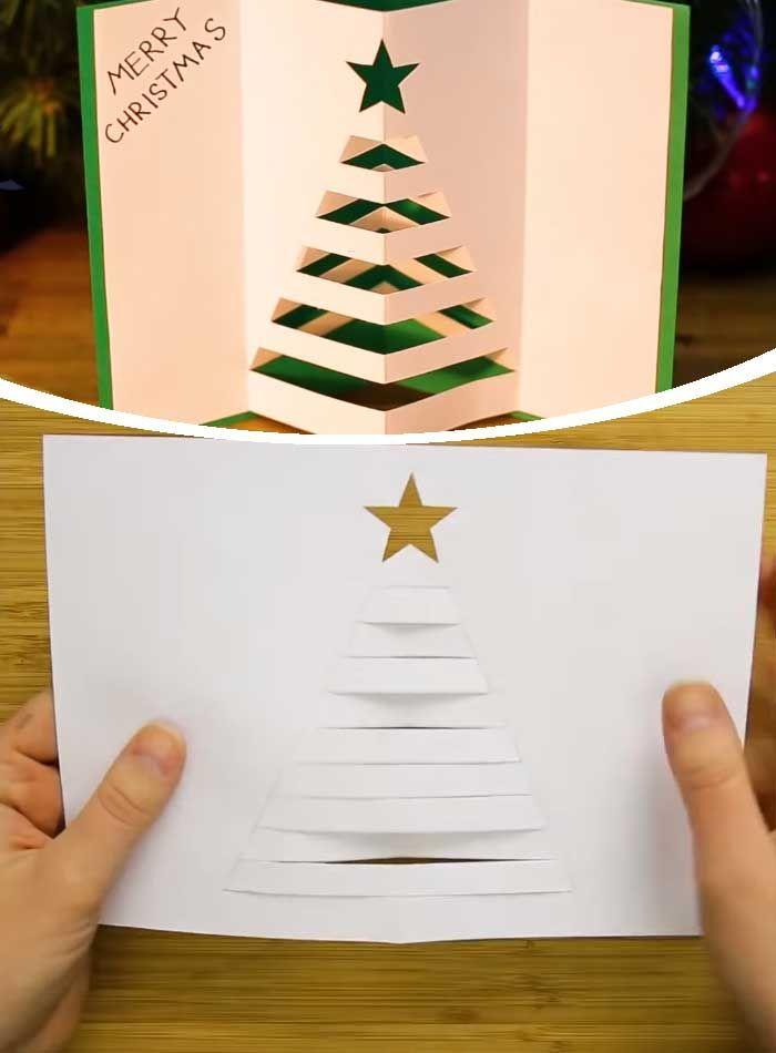 3d Tree 3d Christmas Cards Diy Christmas Cards Christmas Cards Kids