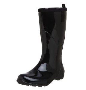 cute cheap Kamik heidi black rain boots for women - Designer rain boots