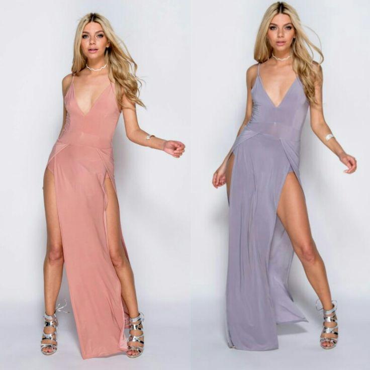 Merida -sukienka maxi z lejącego materiału idelana na wesele, imprezę