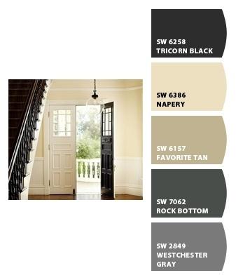 color palet tans / blacks / grey