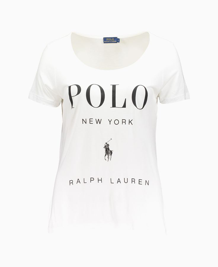 Polo Ralph Lauren - Lux Short Sleeve Scoop Neck T-Shirt - White - Tops - Womens