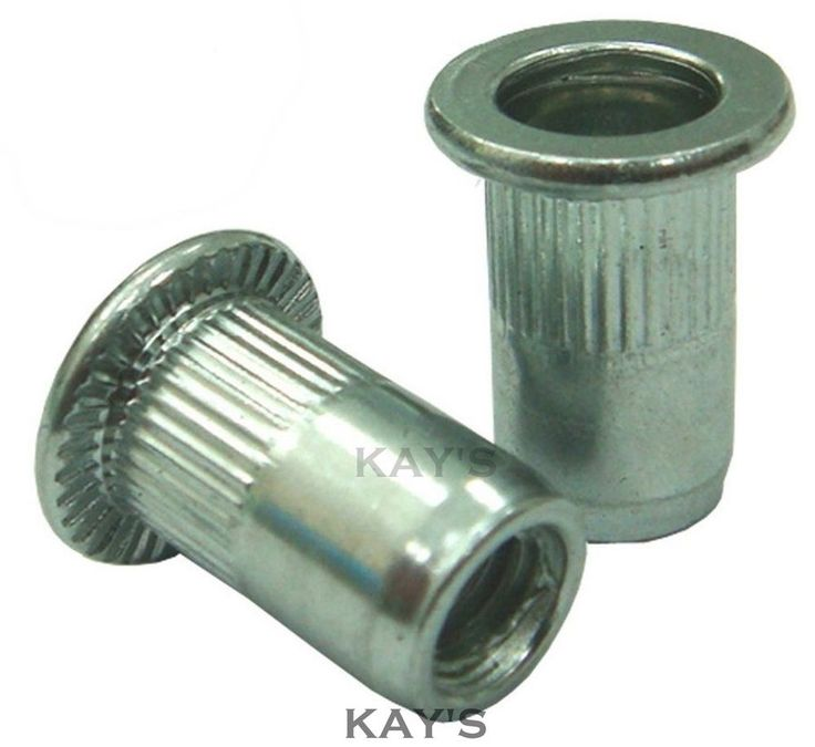 STEEL RIVNUTS BLIND THREADED NUTSERTS KNURLED RIVET NUTS M3 M4 M5 M6 M8 M10 M12
