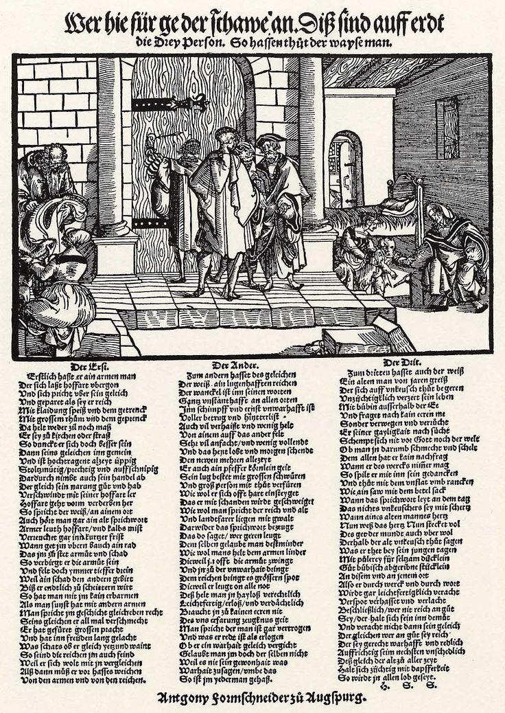 Artist: Flötner, Peter, Title: Die drei verhassten Menschen, Date: ca. 1533