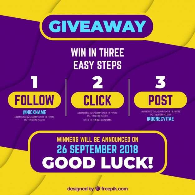 Social Media Contest Or Giveaway Concept Free Vector Freepik Freevector Technology Social Med Social Media Contests Social Media Poster Instagram Contest