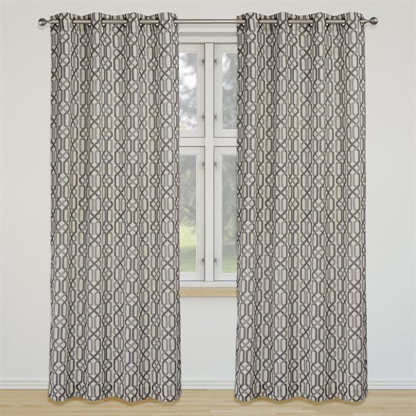 Shop LJ Home Fashions  Linked Geometric Trellis Grommet Curtain Panels (Set of 2) at Lowe's Canada. Find our selection of curtains & drapes at the lowest price guaranteed with price match + 10% off.