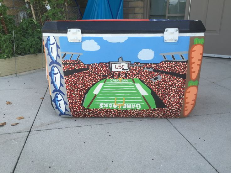 #cooler #fraternity #painting #crafting #football #USC #southerntide #SouthCarolina #college #stadium