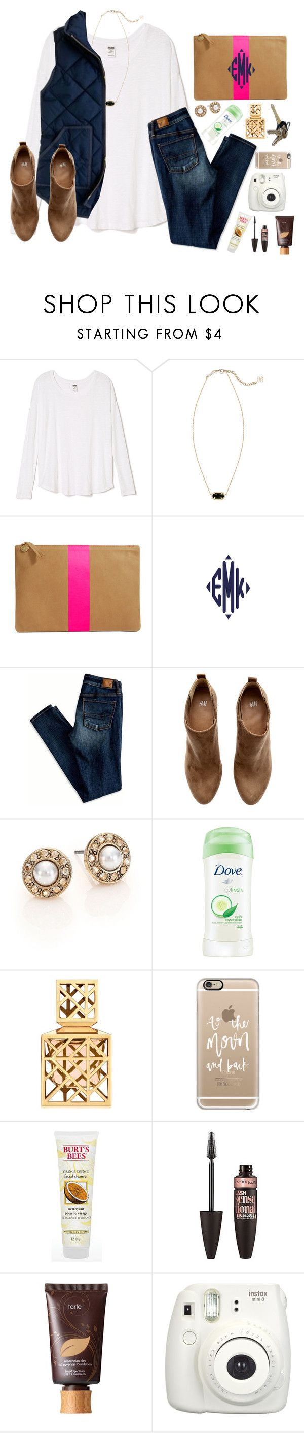 """You took a Polaroid of us"" by lydia-hh ❤ liked on Polyvore featuring Kendra Scott, Clare V., J.Crew, American Eagle Outfitters, H&M, Oscar de la Renta, Dove, Tory Burch, Avon and Casetify"
