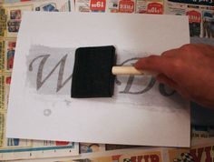 How to transfer letters to wood for the signs. Sara look at this!!