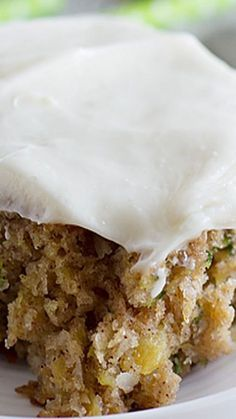 Pineapple Zucchini Sheet Cake with Cream Cheese Frosting.