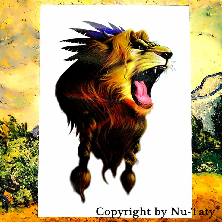 SHNAPIGN Lion King Temporary Tattoo Body Art Flash Tattoo Stickers 21*15cm Waterproof Tatoo Car Styling Home Decor Wall Sticker #Affiliate