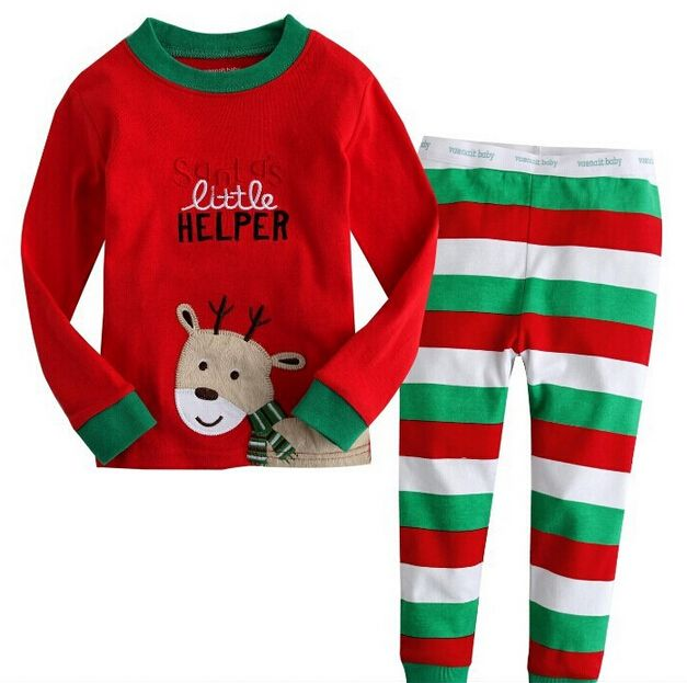 >> Click to Buy << 2017 new year fashion christmas costumes for boys girls infant christmas pajamas ,2T -7T kids christmas pajamas , new year #Affiliate