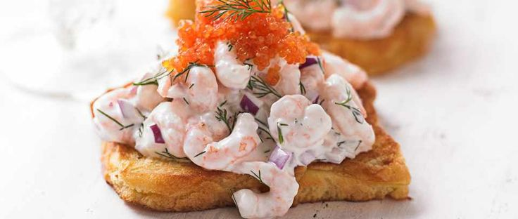 Invented by Swede Tore Wretman in 1958, skagen is now firmly established as a traditional dish. It's super quick to make, why not try it as a simple starter. It's really easy and makes a nice, sophisticated change to a prawn cocktail.