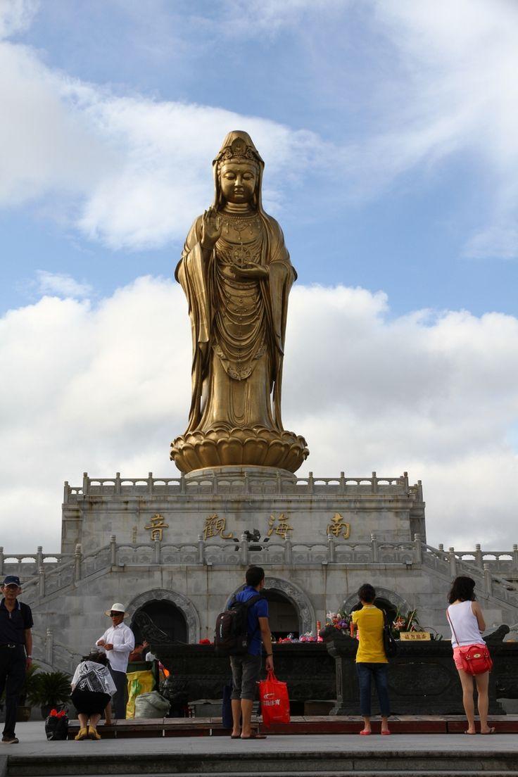 南山海上观音圣像观音 觀音  guān yīn shèng xiàng (Guanyin is the Bodhisattva of Compassion or Goddess of Mercy) Putuoshan South Sea Guanyin.