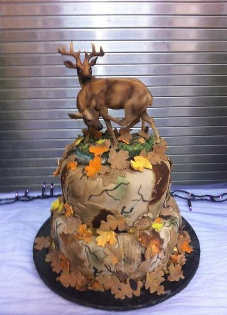 """Deer Hunting Cake....Connor says """"OMG that is every hunters dream cake. Randa could make that because she makes good everything, especially shrimp!"""""""