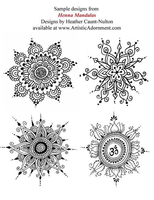 Henna Mandalas ebook Mehndi pattern book with от HennaByHeather