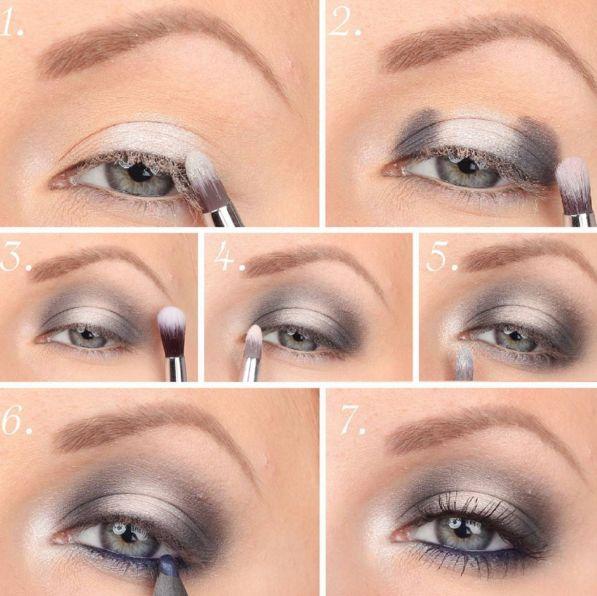 maquillaje para ojos de color platinado