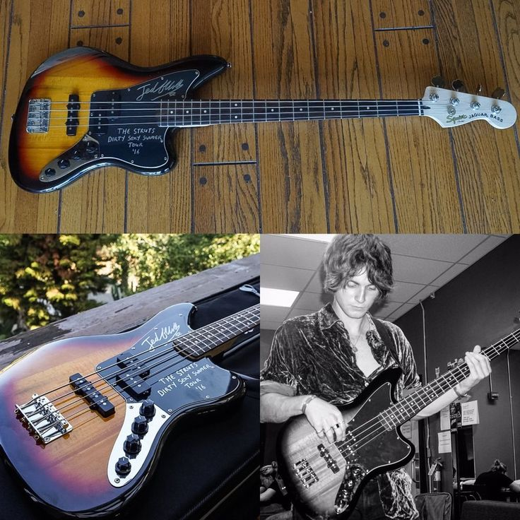 The Struts - Jed Elliott - Signed Fender Squier Jaguar Bass #Fender