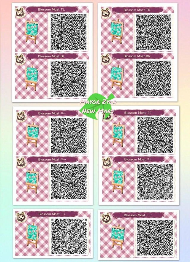 Water Path Cherry Blossom Moat Acqr Animal Crossing 3ds Animal Crossing New Animal Crossing