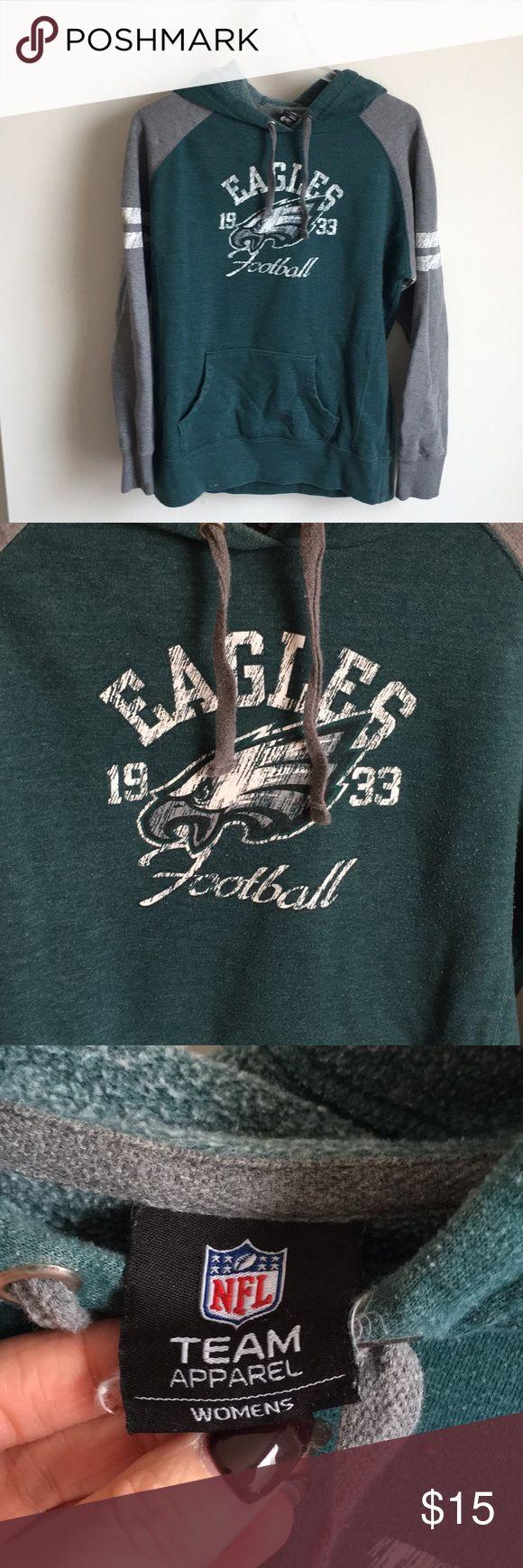 Philadelphia Eagles sweatshirt Used and very loved Eagles sweatshirt.  Has normal 'wear and tear', but still has tons of life left! NFL Tops Sweatshirts & Hoodies