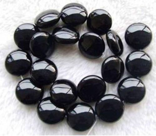 14mm-Black-Onyx-Coin-Beads-string-15-AY059