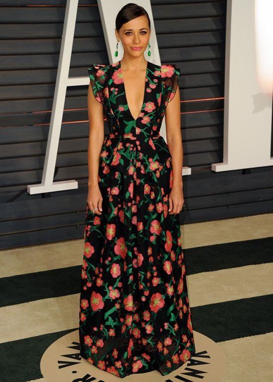 Rashida Jones In Andrew Gn - 2015 Vanity Fair Oscar Party