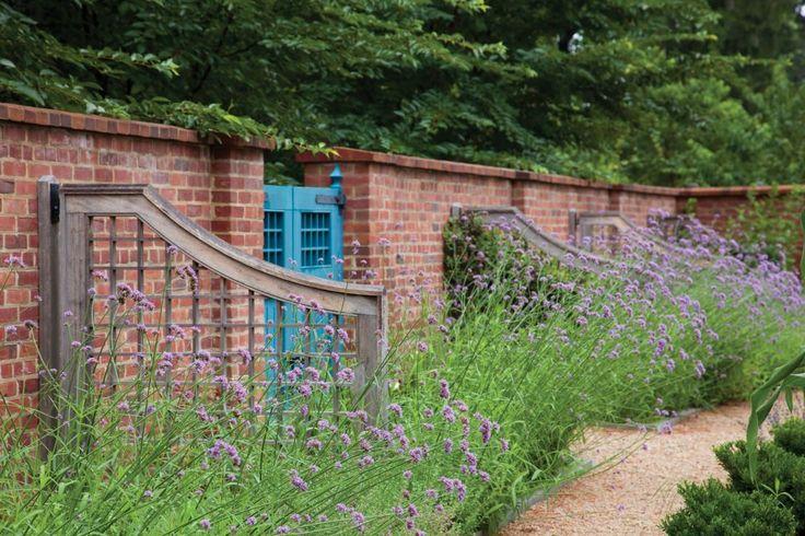 The Cedars | Nelson Byrd Woltz | Verbena against brick wall background
