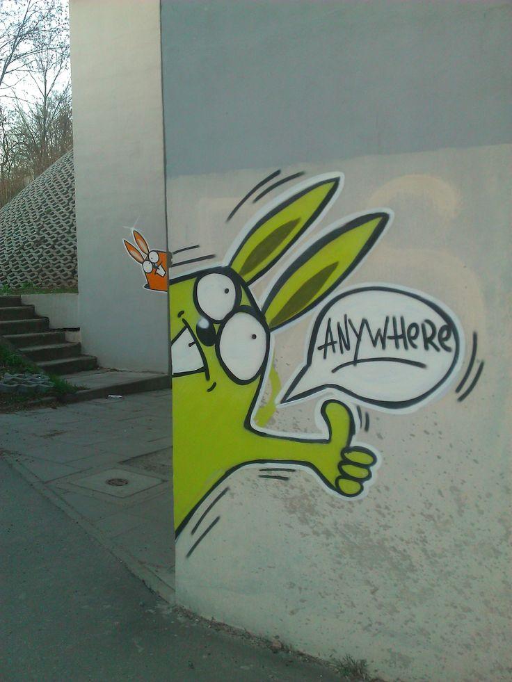 Street Art w KRK KResKi - Króliki Anywhere Jana Henryka...