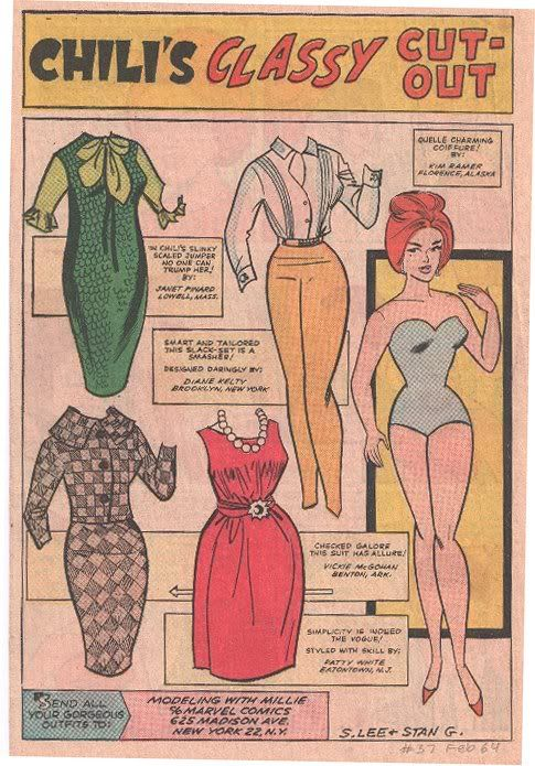Modeling With Millie Paper Doll Of Chili EBay