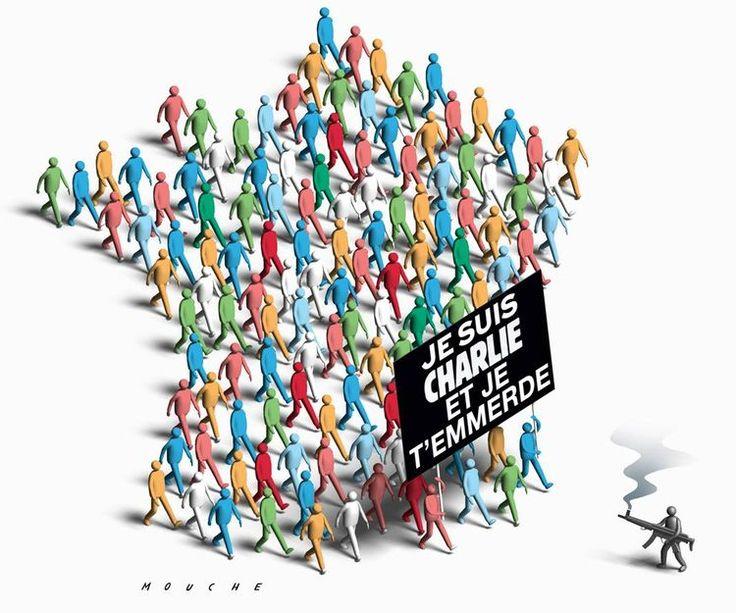 Dessin pour Charlie Philippe Mouche