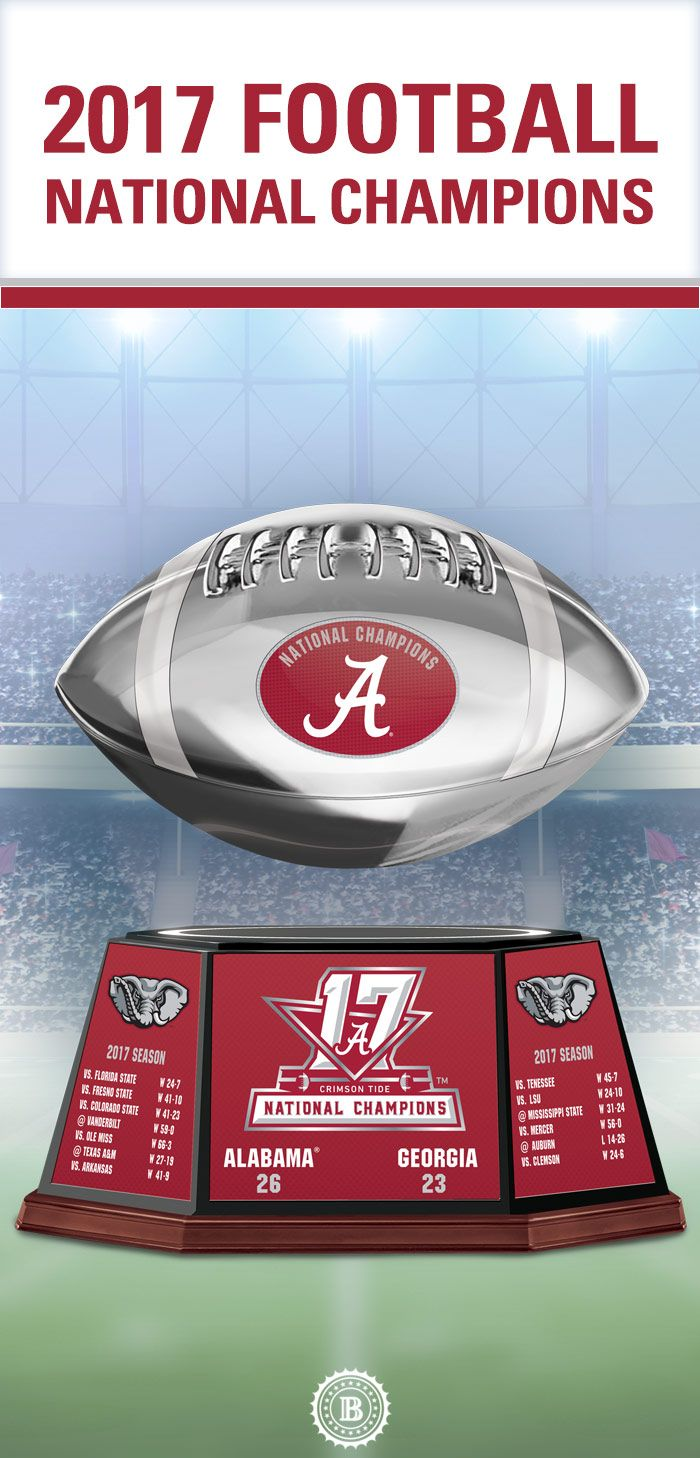 Let your pride rise with this distinctive Alabama Crimson Tide tribute. It features a levitating football that hovers and spins in midair. Limited edition of 10,000!