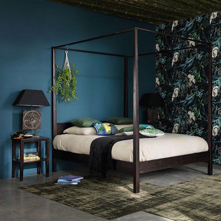 colores para decorar el dormitorio maison turquesa oscuro