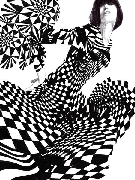 ~ Knightsbridge Anyone? ~  by Daniel Engeus, Op Art Figure