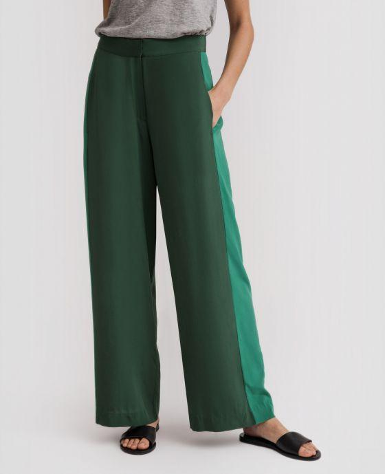 f377465bdd0b Silk Wide Leg Racer Pants | Chinese Silk | Pants, Silk, Wide leg