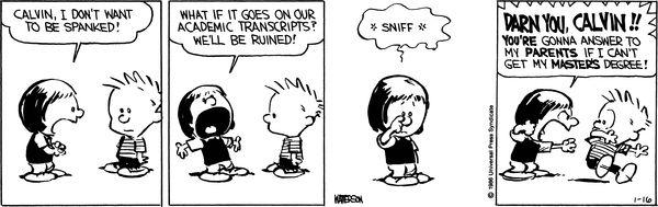 Calvin and Hobbes Comic Strip, January 16, 1986 on GoComics.com