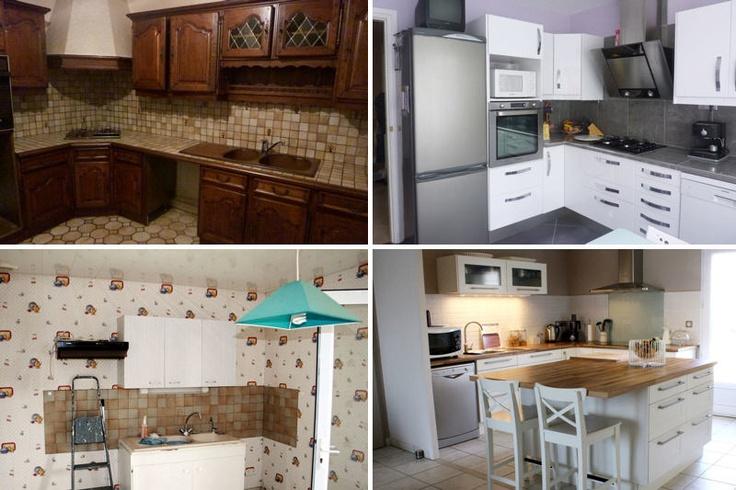 Relooking int gral de cuisines avant apr s kitchens - Home staging cuisine rustique ...