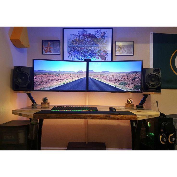 99 besten dream computer setup bilder auf pinterest. Black Bedroom Furniture Sets. Home Design Ideas