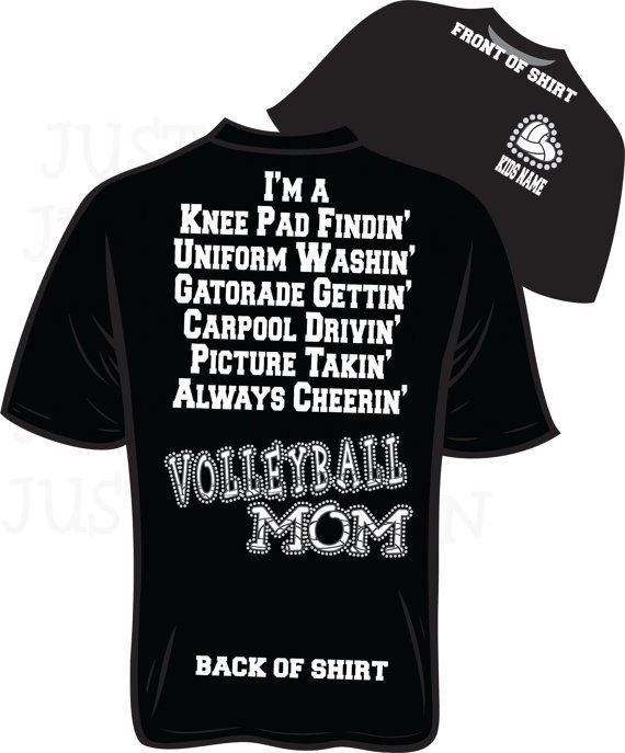 Should Get Me One Of These For Next Season! VolleyBall Mom Bling T Shirt