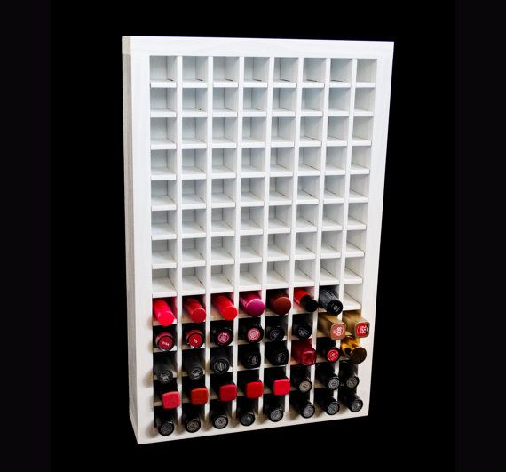 Lipstick Organizer Wall Unit  Makeup by TheCosmeticArchive on Etsy