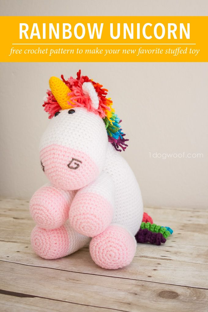 Rainbow Cuddles Crochet Unicorn Pattern   Free Crochet Amigurumi