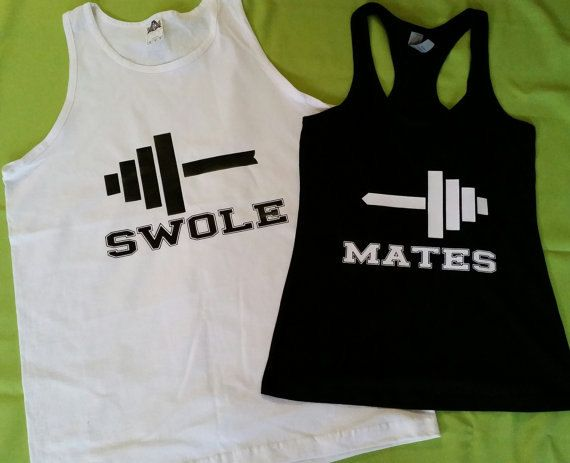 Couples Swole Mates Work Out Partners Gym Shirts, Workout Wifey, Workout ubby Couples Fitness Beauty and Beast Tank Tops, Couples Gym Shirts