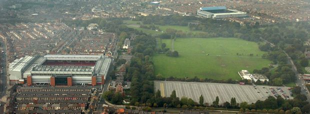 Stanley Park, between Anfield and Goodison