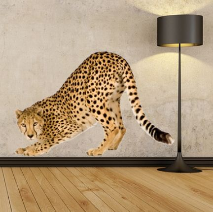 Details About WSD148   LARGE CHEETAH REMOVABLE WALL STICKER. ANIMAL PHOTO  REALISTIC WALL DECAL